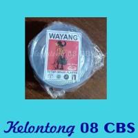 Tutup Gelas Plastik Bening Wayang Per 10 Pak @ 50 Pcs