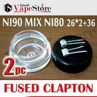 Fused Clapton Ni90 Core Ni80 26*2+36g |2pcs PREBUILD