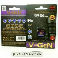 V-GEN MEMORY SD CARD SDHC Vgen 64GB Class 10 Camera Kamera