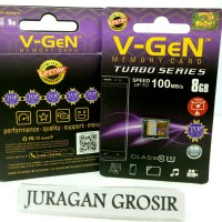 V-GEN Micro SD Vgen 8GB Class 10 TURBO SERIES Memory Card Original