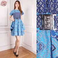 Dress Midi Batik Lala Short Dress Wanita