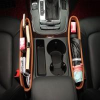 Leather Car Seat Gap Storage Organizer Wadah Samping Kursi Jok Mobil