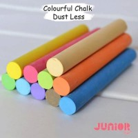 Colourful Chalk Dustless/Kapur Anti Kapur