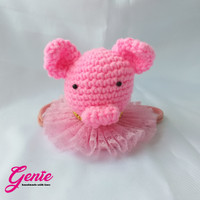 headband - pink pig hair accesories