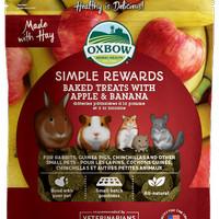 Oxbow Simple Reward Baked Treat Apple and Banana 60gr Snack - EXP 2022-09