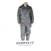 HAPPYFIT SAUNA SUIT WITH ZIPPER AND HOOD (UNISEX)