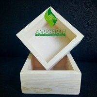 15x15cm kotak seserahan kayu murah unik vintage jati belanda box kayu
