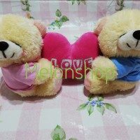 Boneka Couple Teddy Bear Love Rasfur SNI