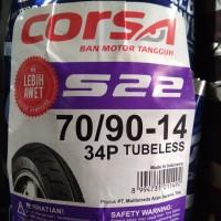 70/90-14 S 22 Tubeless, Ban Motor Matic Merk Corsa