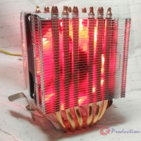 HSF CPU Cooler Lanshuo inline Dual Tower 6 Heatpipe Single Fan