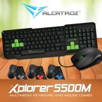 Alcatroz Xplorer 5500-Black Blue-Keyboard Mouse Combo
