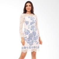 Preena Batik Dress Terusan Wanita - Putih