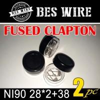 Fused Clapton NI90 28*2+38g PREBUILD COIL |PERPASANG