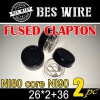 Fused clapton NI80 Mix NI90 26*2+36g PREBUILD COIL