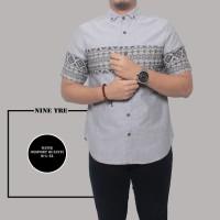 Kemeja Pendek Batik Original Pria Kombinasi Abu, L