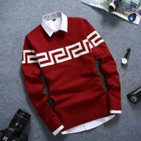 Labirin Smooth Maroon Sweater RAJUT Pria Tebal