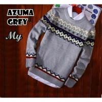 Azuma Grey Sweater RAJUT Teabal Pria