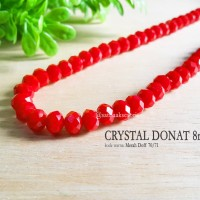 Crystal Beads Glass Kristal Donat 8mm Merah Doff 70-71 Jewelry