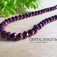 Crystal Beads Glass Kristal Donat 8mm Ungu Doff Metalik 105 Jewelry