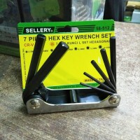 Kunci L lipat SELLERY HEXAGON 58-512 Hex key wrench set 7pcs lipet