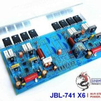 Kit Power JBL-741 X6 Power Amplifier Stereo 600W JBL741 X6 TR TOSHIBA