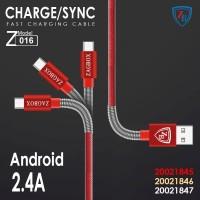 Kabel data Zagbox fast charging Micro usb/kabel data high speed murah - Gold