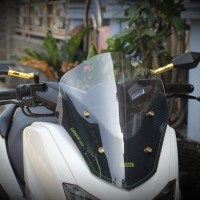 Visor Windshield Acrylic Motor Yamaha Nmax SC carbon 42cm Murah