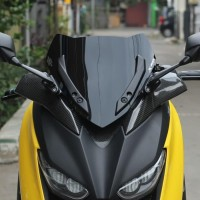 Visor Windshield Acrylic Motor Yamaha Xmax X2 Cover Tinggi 36 cm Murah