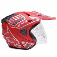 Helm Half Face Helm nhk Helm Dewasa WTO Helmet Pro Sight Cross Merah