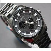 jam tangan pria original lasebo dual time tipe 8020 - jam tangan pria
