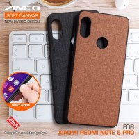 Soft Canvas Case Xiaomi Redmi Note 5 Pro Softcase Casing Hard Cover