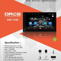 TV MOBIL HEAD UNIT DOUBLE DIN ORCA ADR 7688 ANDROID