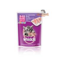 Whiskas Pouch / Sachet 85gr Wetfood Junior Mackerel