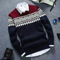 Sweater Rajut Pria Naz Tribal Abu DS