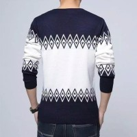 Bahu Atasan Pria Sweater Rajut