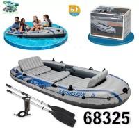 Perahu Karet 5 orang Intex 68325 + Dayung + Pompa Kualitas Bagus