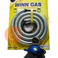 REGULATOR GAS LPG STAR CAM DESTEC 201M + SELANG FLEX WINN GAS