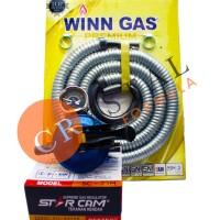 REGULATOR GAS LPG STAR CAM 23M + SELANG FLEX WINN GAS