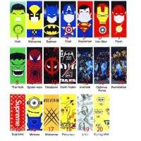 Superhero Edition Pelapis Baterai Wrap Baterai Vape 18650 VTC AWT DLL