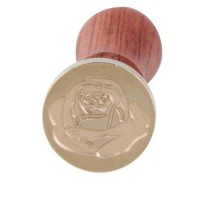 Sealing Wax Stamp with Wood Handle - Rose Flower Series