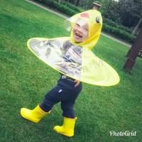 Jas hujan anak UFO/payung lipat kepala UFO anak