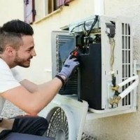 instalasi ac split wall mounted 0.5 pk - 1 pk tanpa perlengkapan