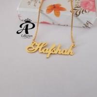 Kalung Nama lapis emas 24k Kuat tahunan Motif Cantik