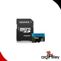Micro SD ADATA 16GB Class 10 With Adaptor SD Card Micro UHS-1/25Mbps