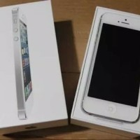 Iphone 5 16GB Silver Second Mulus