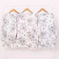 blouse motif bunga tangan serut big size