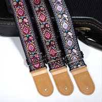National Style Embroidery Jacquard Guitar Strap Electric Acoustic