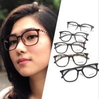 paket lensa minus antiradiasi frame kacamata wanita burberry isyana