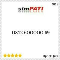 Nomor Cantik Simpati seri Panca 00000 rapi 0812 600000 69 St12