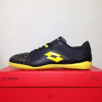 Sepatu futsal / putsal / footsal Lotto Squadra IN Black Sunshine L0104